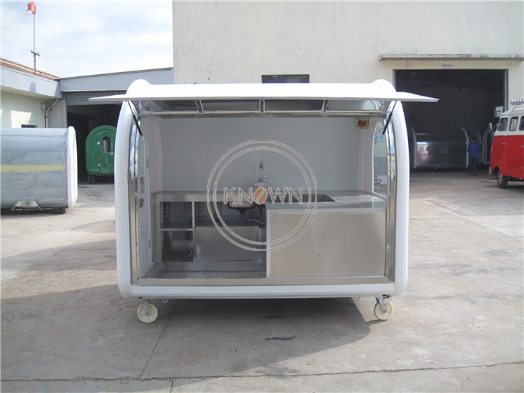 KN-250D Fast Food Carts Ice Cream Cart Fast Food Kiosk Food Trolley For Sale Food Carts Food Vending Carts for Sale USA