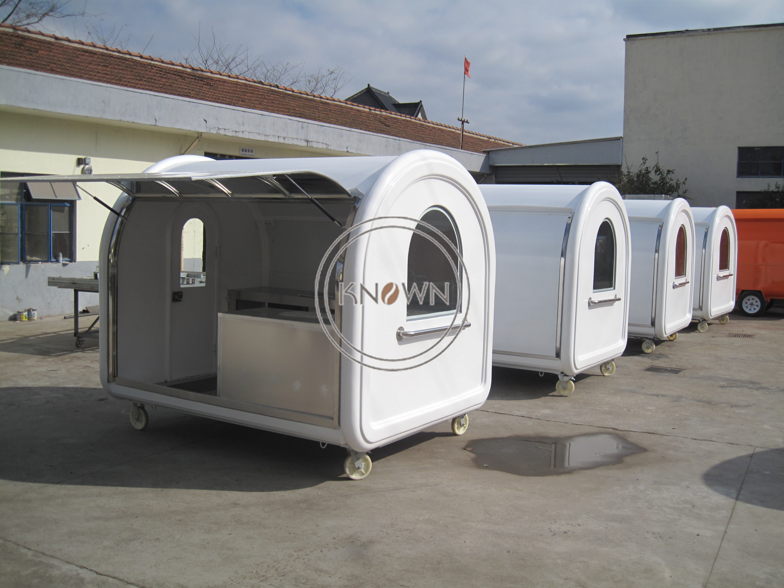 KN-280W 2.8m Length Fried Chicken Hot Dog Mobile Food Trucks for Sale Food Vending Carts
