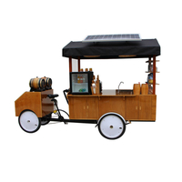 Customizable Electric Cargo Bike Street Vending Bicycle Adult Tricycle Moblie Drink Bubble Tea Coffee Van Cafe Cart for Sale