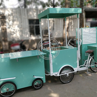 Pedal Cotton Candy Making Cart Street Food Flower Fruit Vending Bicycle Human Cargo Bike for Sale
