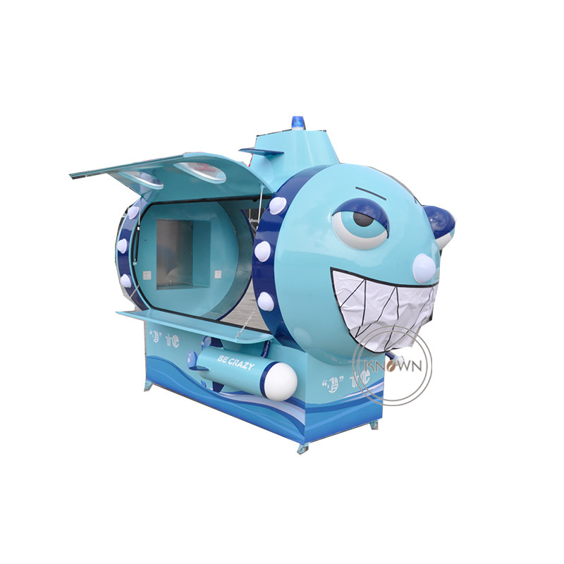 Unique Submarine Corn Food Cart for Sale Ice Cream Customized Stainless Steel Catering Cart