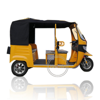 Hot Sale 4-5 Person Electric Tuk Tuk Cart Taxi 3 Wheels Motorcycle Passenger Tricycle