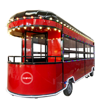 Street Outdoor Fast Food Cart Popular Hot Dog Vending Trailer Ice Cream Electric Mobile Truck in USA