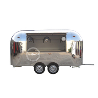 Best Selling Perfect Stainless Steel 4m Long Food Van Trailer Food Truck for Sale Europe