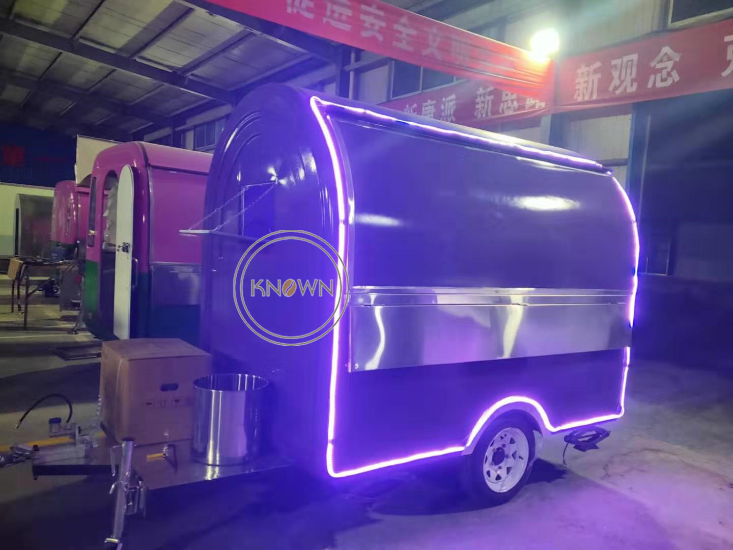 Most Popular China Made Top Quality 250cm Two Wheels Food Truck Van Trailer Cart for Sale Food Trailer