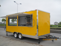 KN-FS480 New Arrival Outdoor Kitchen Fast Food Truck With Cooking Equipment China Factory Mobile Food Truck For Sale Europe