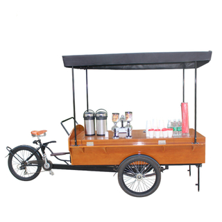 Multifunction Adult Tricycle Electric Cargo Bike Kiosk Mobile Food Display Cart for Sale Coffee Fruit Beer on The Street