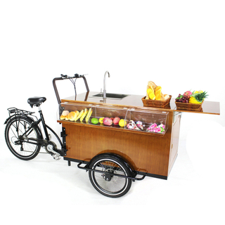 Fashion Electric Cargo Bike Adult Tricycle Kiosk Mobile Food Display Cart for Sale Coffee Fruit Beer on The Street Wholesale