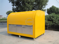 KN-290A Supply The Popular Pastries Food Kiosk / Hand Push Food Cart