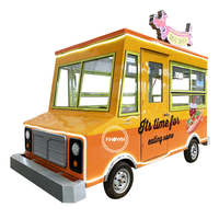 Wholesale Price Cater Ice Cream Mobile Food Trucks For Sale Europe Used Fast Food Truck Trailer Food Cart