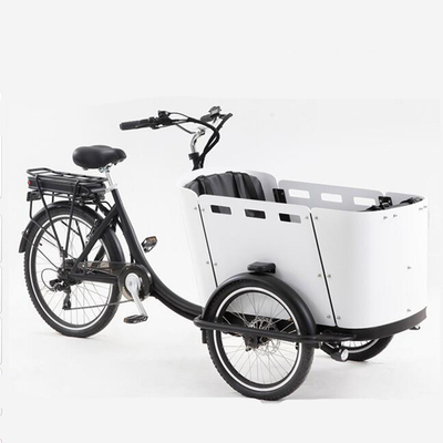 4 Seats Electric Family Cargo Bike Adult Tricycle for Transport And Grocery Shopping The Most Advanced Cargo Bike Ever Built