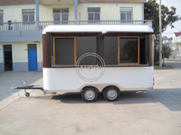 KN-400R Hot Food Truck Mobile Street Vending Trailer Ice Cream Display Food Trailer