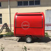 KN-220B Mobile Food Trailer Coffee Ice Cream Cart Hot Dog Red Wine Kiosks Van Truck with Cooking Equipment for Sale