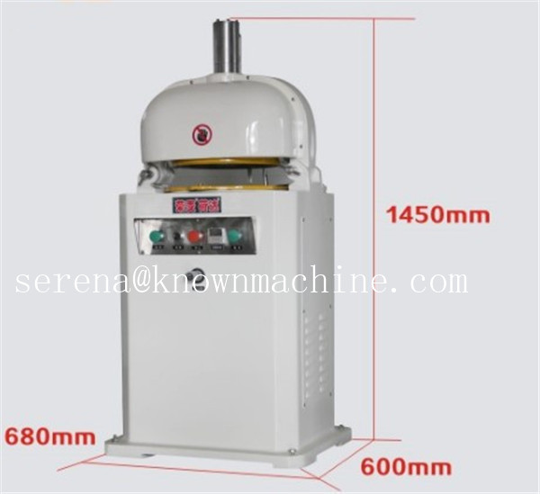 Uniform block dough ball divider and rounder machine