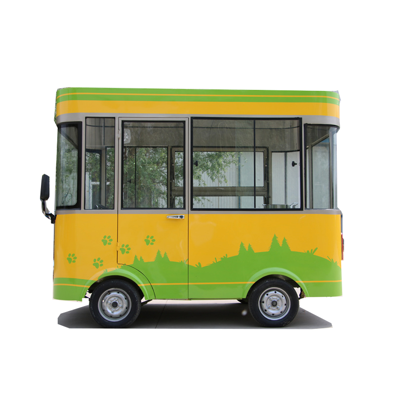Low energy consumption electric food cart truck mobile for sale